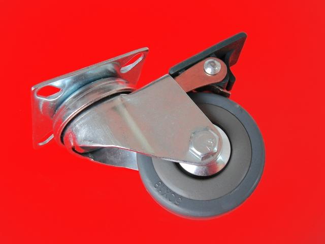 1 st 50mm hochwertige graue transportrollen lenkrollen. Black Bedroom Furniture Sets. Home Design Ideas