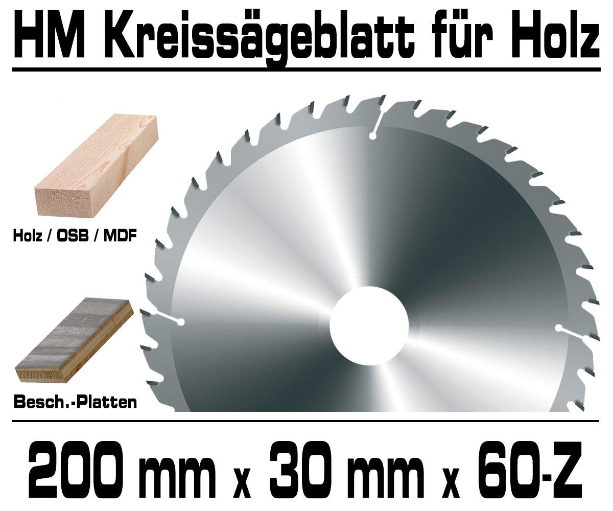Holz HM Kreis Sägeblatt Für Hand Kreissäge Kappsäge Ø 190mm x 30mm x 24-Z VERTO