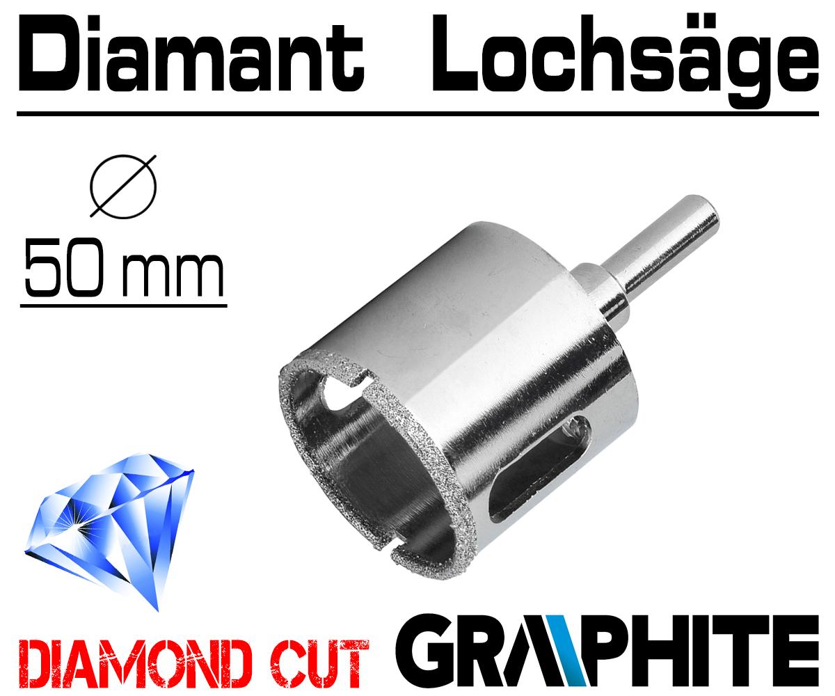 Diamant Lochsäge Bohrer Fliesen Werkzeug für Glas Keramikbohrer Marmor 6mm-50mm