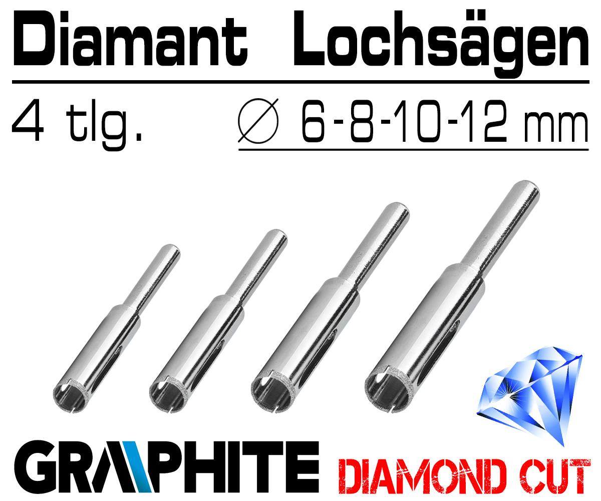 Fliesenbohrer Diamantbohrer Bohrkrone Glasbohrer Dosenbohrer Keramik Set 4-12 mm