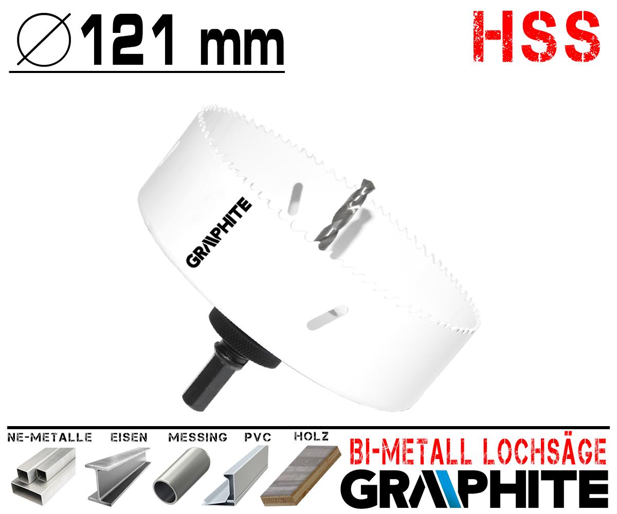 HSS Bi-Metall Lochsäge Ø 121mm Hochwertige Bohrkrone Dosenbohrer ohne Aufnahme