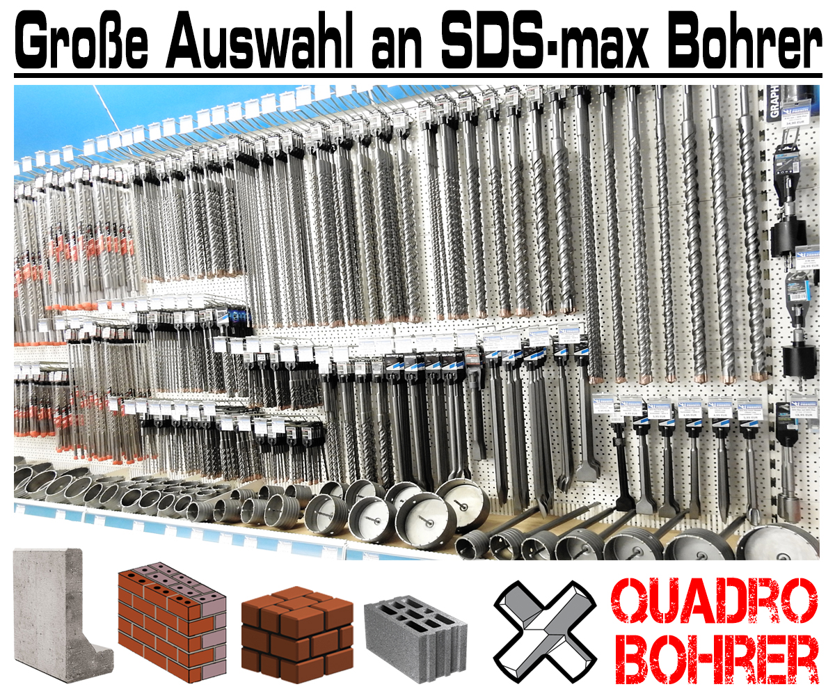 SDS-max Betonbohrer 22 mm x 400 mm Quadro Bohrer Hammerbohrer Steinbohrer