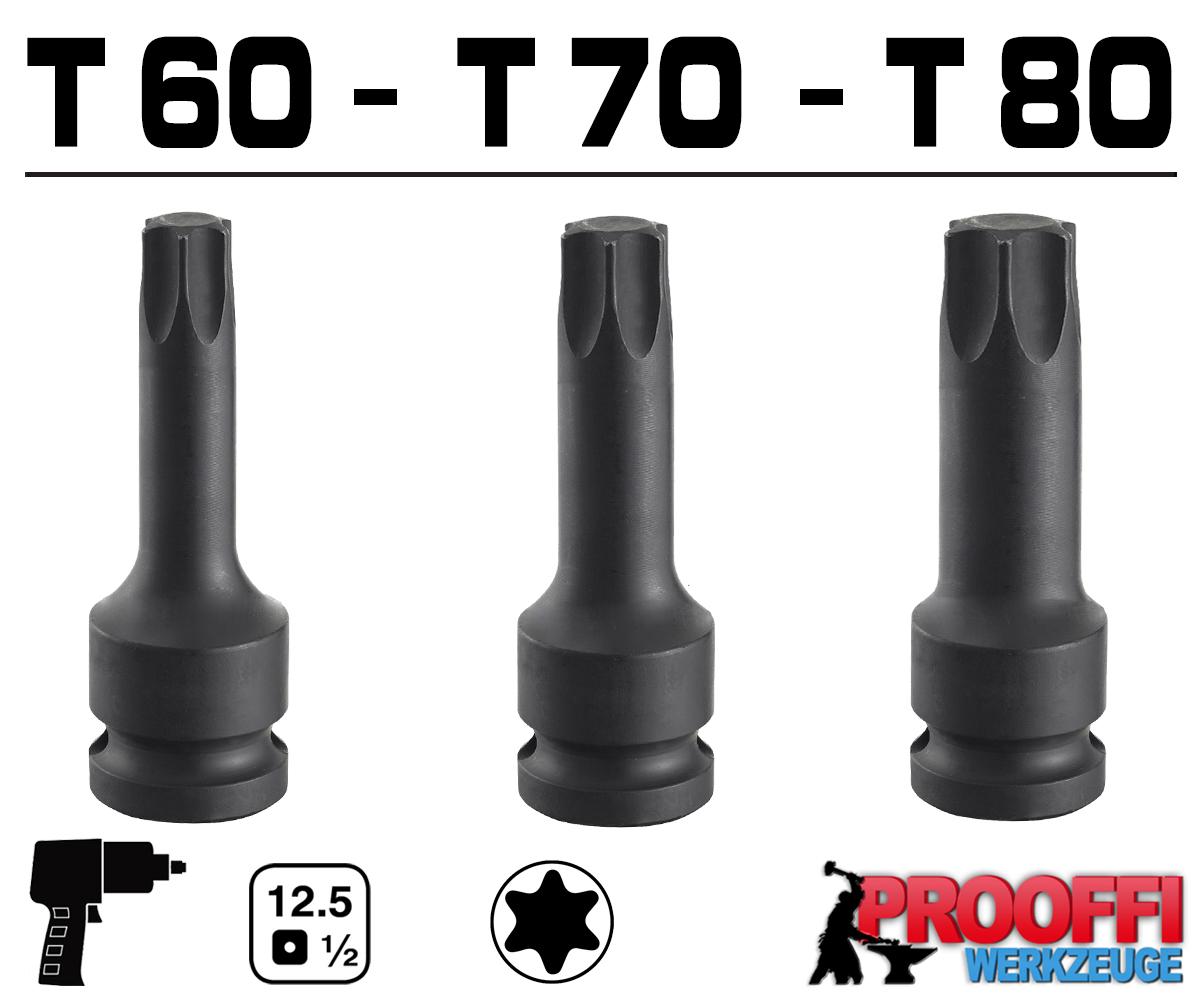 Stecknuss T 70 Torxstecknuss Bit Torx T 20 mit Stecknuss f/ür Ratsche 1//2 Zoll T45